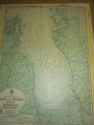 Map of new zealand firth of Thames naval chart