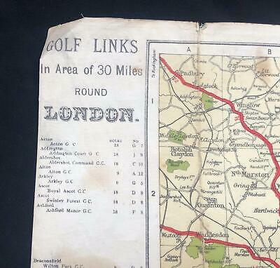 Old Map - Golf Links of 30 Miles Around London by Alexander Gross, Geographia