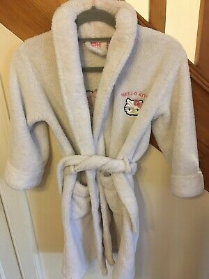 Hello Kitty Hooded Dressing Gown. Age 6-7 Year