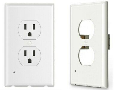5 - Pack Outlet wall plate with led night lights Covers with Sensor Automatic