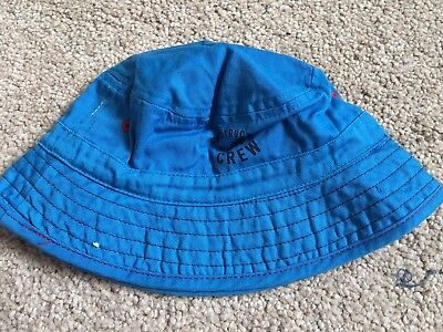BNWOT Next Summer Floppy Hat. Boys. Age 3-6 Months. Bright Blue - Construction