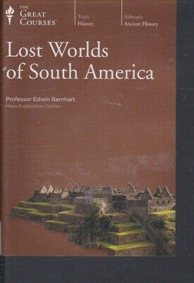 DVD~LOST WORLDS OF SOUTH AMERICA by THE GREAT COURSES~ 24 LECTURES 4 DVDs +BOOK