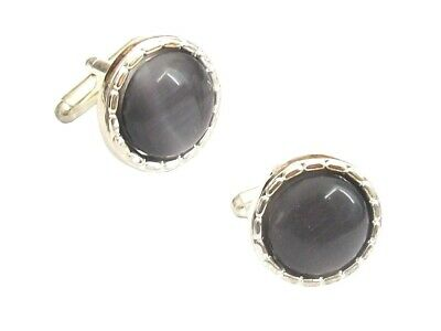 Grey Silver Vintage Style Cufflinks Wedding Mens Office Shirt Dress Gift Jewelry