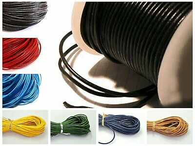 32.8 feets Round Real Genuine Leather Cord 2mm Jewelry String Colour Choice