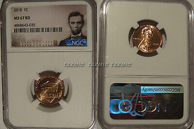 2018 P Lincoln SHIELD Cent 1c NGC MS 67 RD Lincoln Label