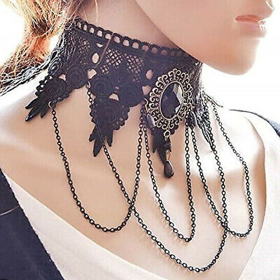 Roam Gothic Lace Retro Choker Collar Necklace Pendant Chocker Chain Jewelry SF
