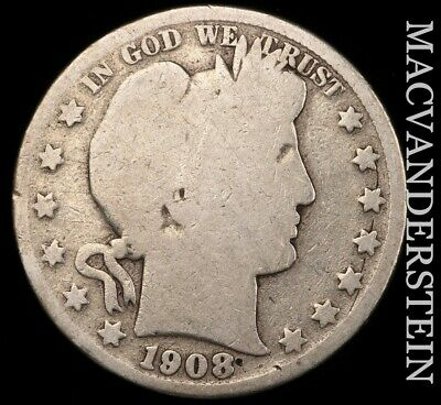 1908-D Barber Half Dollar - Scarce!!  Better Date!!  #e63