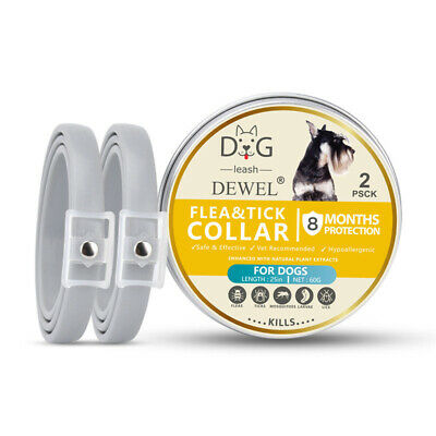 2 PCS Dewel US DOGS Anti Flea and Tick Collar for Large Dogs 8 Month Protection