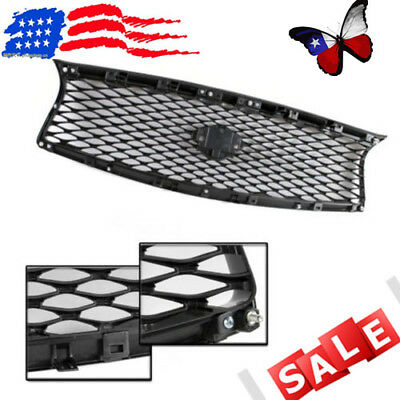 USA Front Mesh Upper Grill Replacement Fits For 2014-2017 Infiniti Q50 JDM EAU