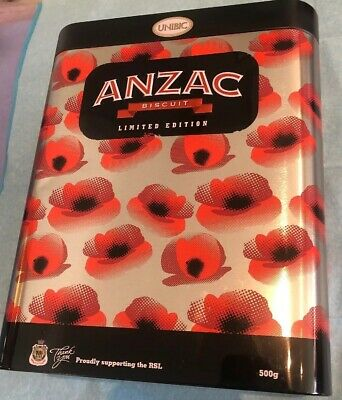 ANZAC Biscuit Tin - 2016 With Poppies
