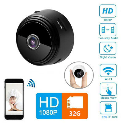 Night Vision Remote Mini Spy Camera Wireless Wifi IP Home Security HD 1080P DVR