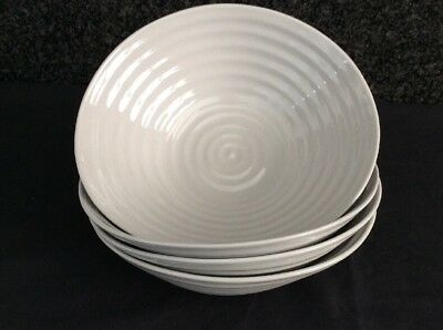 Portmeirion Sophie Conran 4 X Grey Cereal  Bowls New
