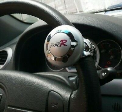 TypeR Steering Wheel Aid Power Handle Assist Spin Knob Ball Silver Durable