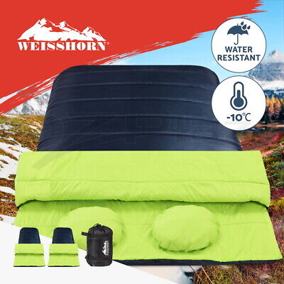 Weisshorn Sleeping Bag Bags Double Camping Hiking -20°C Tent Winter Thermal