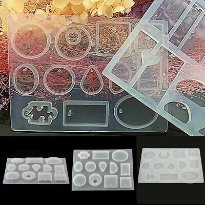 12* Silicone Mould Mold for DIY Resin Round Necklace jewelry Pendant Making tool