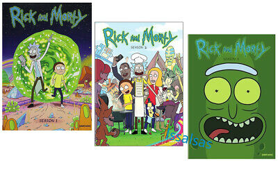 Rick and Morty: Complete Series Seasons 1-3 (6-Disc DVD Box Set) Region Free New