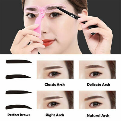 Pro Shaping Template Eyebrow Definition DIY Eyebrow Stencils Brow Grooming Cards
