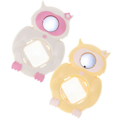2x Owl Close Up Lens Selfie Mirror for Fuji Instax Mini 8/8+, White+Yellow
