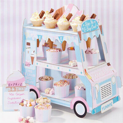 Ice Cream Cupcake Van Cars Display Stand For Birthday Wedding Party Decorate