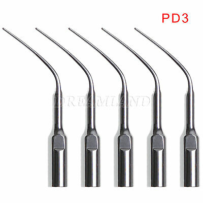 5pcs Dental Perio Scaling Tips PD3 for DTE SATELEC Ultrasonic Scaler Dentist USA