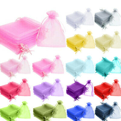 9x12CM LUXURY Organza Gift Bags Jewellery Pouch Wedding Party Candy Favour Bag