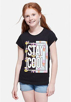 Justice Girls Size 20 'BRB I'm Off To NYC' Graphic Tee New with Tags