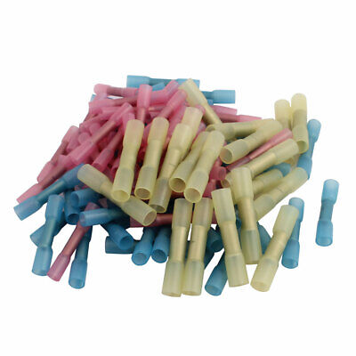 100Pcs BHT0.5 Heat Shrink Electrical Solder Wire Terminals AWG 26-22