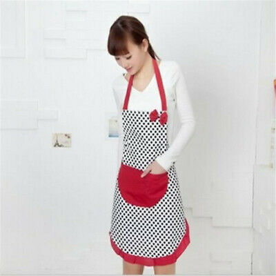 Chef Bib Kitchen Restaurant Apron Cooking Bowknot Pocket Women Cooking Aprons Z