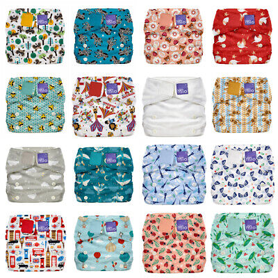 Miosolo Cloth Nappy Bambino Mio All In One Reusable One Size Birth to Potty NEW