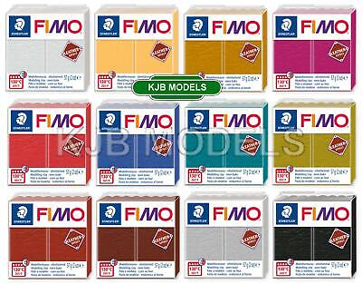 Genuine FIMO LEATHER effect Oven Bake Modelling Clay 57g - Choice Of 12 Colours