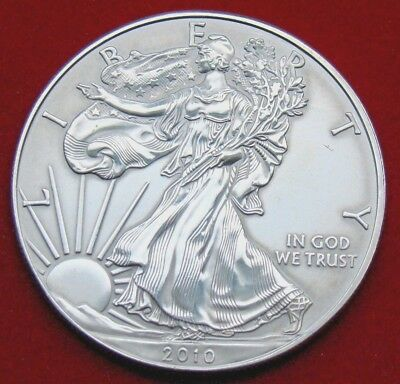 2010 Silver American Eagle BU Coin 1 oz US $1 Dollar Brilliant Uncirculated *010
