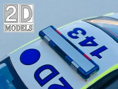 2D Models Code 3 1/43 Police/Fire/Ambulance Woodway style lightbar Type 2A
