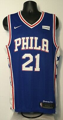 ef971cec9f0 Philadelphia 76ers NBA Replica Jersey / # 21 Joel Embiid / NEW WITH TAGS