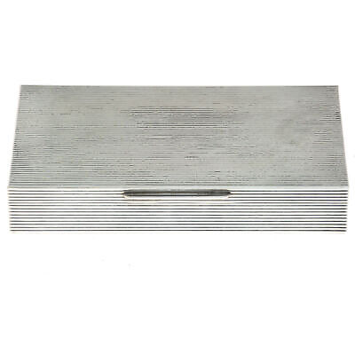 Silver Cigar Cigarette Case Humidor Florence Italy Post 1968
