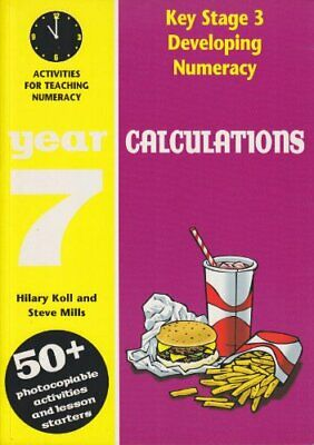 Developing Key Stage 3 Numeracy: Calculations Year ... by Mills, Steve Paperback