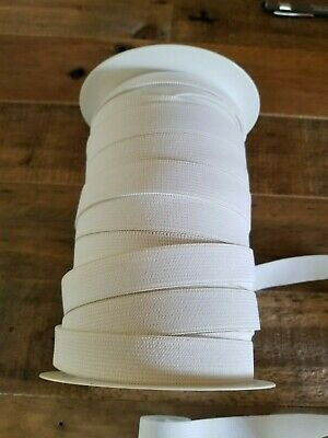 "Partial Roll of 3/4"" Stretchrite Knitted Elastic White Approx. 60 yds"