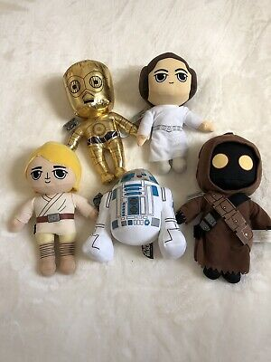 Star Wars 40th Anniversary Plush Set of 5 - Luke, Leia, R2D2, C3PO & Jawa