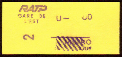 Paris Metro Ratp France Railway Ticket / Fahrkarte (88)