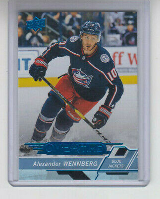 18/19 UD Overtime Wave 3 Columbus Blue Jackets Alexander Wennberg Blue card #126