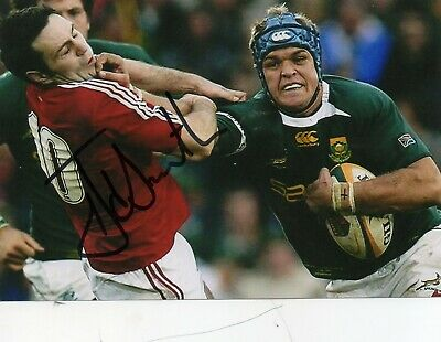 Juan Smith - South Africa - Springboks Rugby - Signed 6X4 Photo