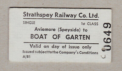 Strathspey Railway Ticket Scotland / Fahrkarte (414)