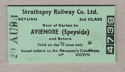 Strathspey Railway Ticket Scotland / Fahrkarte (415)