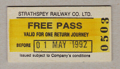Strathspey Railway Ticket Scotland / Fahrkarte (416)