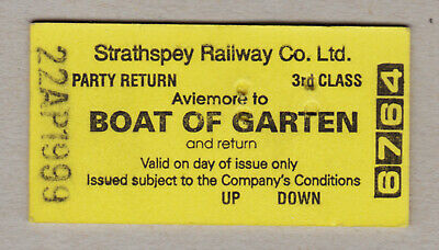Strathspey Railway Ticket Scotland / Fahrkarte (417)