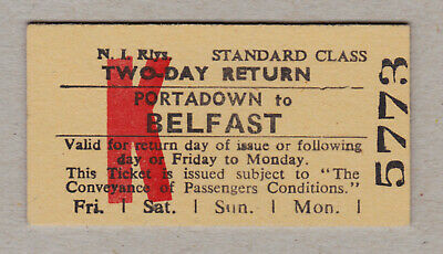 Northern Ireland Railway Ticket / Fahrkarte (419)