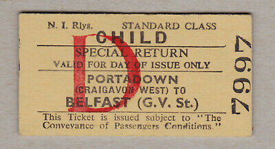 Northern Ireland Railway Ticket / Fahrkarte (422)