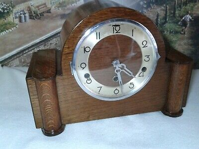 Art Deco style Westminster chiming clock in excellent  condition