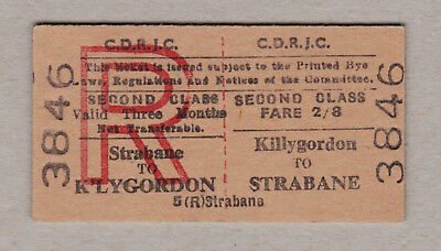 County Donegal Railways Ticket Ireland / Fahrkarte (394)
