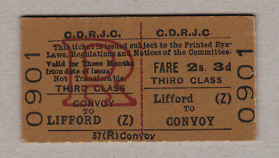 County Donegal Railways Ticket Ireland / Fahrkarte (393)