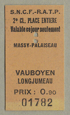 Sncf Ratp France Railway Ticket / Fahrkarte (268)